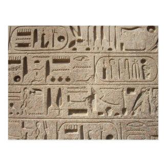 Postal de los jeroglíficos