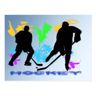 Postal de los jugadores de hockey