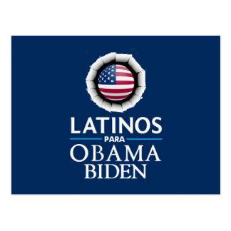 Postal de los LATINOS de Obama Biden