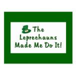 Postal de los Leprechauns