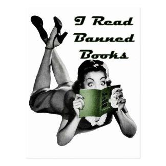 Postal de los libros prohibidos
