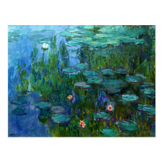 Postal de los lirios de agua de Monet Nympheas