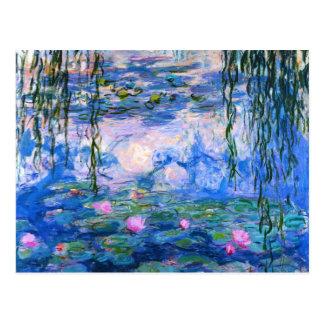 Postal de los lirios de agua de Monet