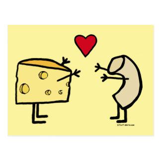 Postal de los macarrones con queso