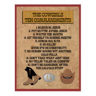 POSTAL de los mandamientos de la vaquera 10