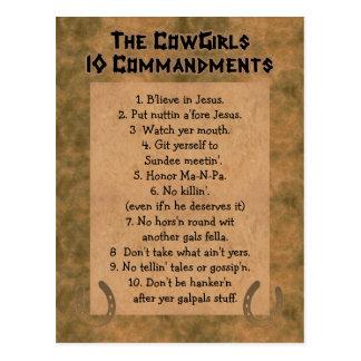 POSTAL de los mandamientos de las vaqueras 10