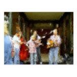 Postal de los músicos de la calle