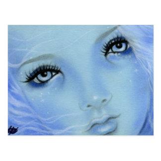 Postal de los ojos azules de la sirena
