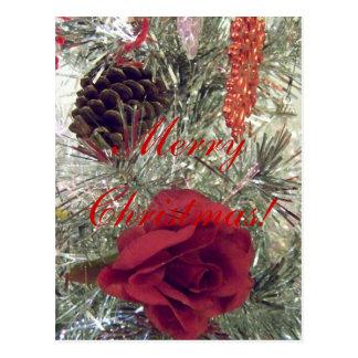 Postal de los ornamentos del navidad