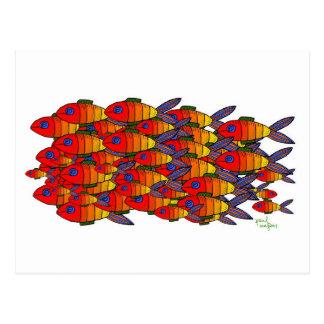 postal de los pescados