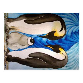Postal de los pingüinos