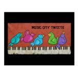 postal de los píos de la ciudad de la música