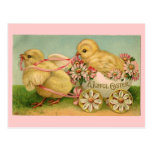Postal de los polluelos de Pascua del vintage