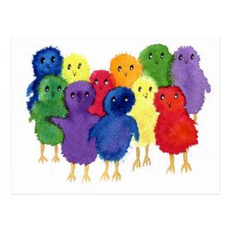 Postal de los polluelos de Pascua
