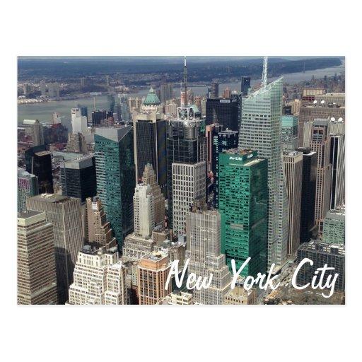 Postal de los rascacielos de New York City