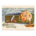Postal de los ratones de Halloween del vintage del