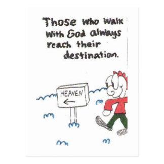 Postal de los refranes divertidos de la iglesia, a