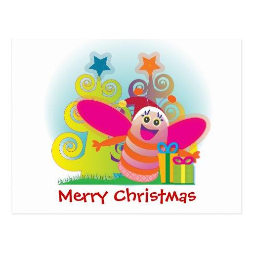 Postal de los regalos del navidad: diversión y abe