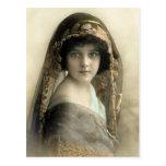 Postal de los retratos de los niños del vintage