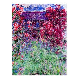 Postal de los rosas de Monet