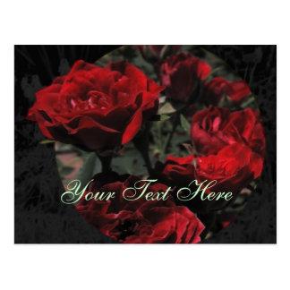 Postal de los rosas rojos