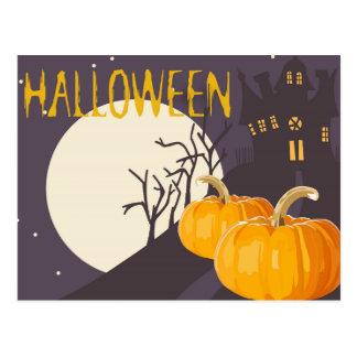 Postal de los saludos de Halloween