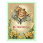Postal de los saludos de Pascua del vintage