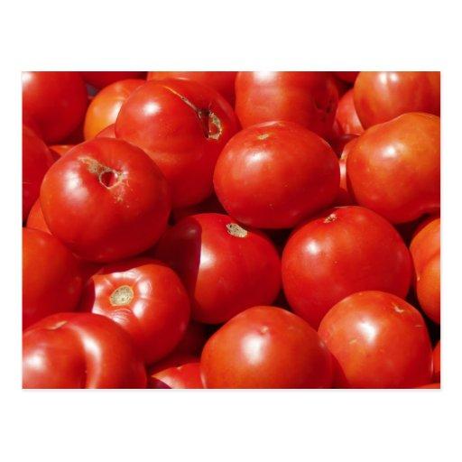 Postal de los tomates del mercado de los granjeros