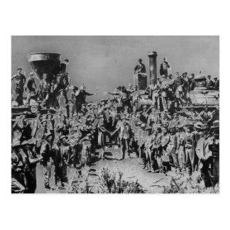 Postal de los trabajadores del hierro del vintage