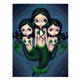 """Postal """"de los tríos verdes de la sirena"""""""