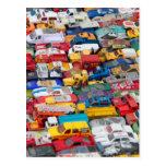Postal de los vehículos del juguete