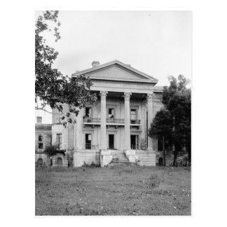 Postal de Luisiana de la plantación de la arboleda