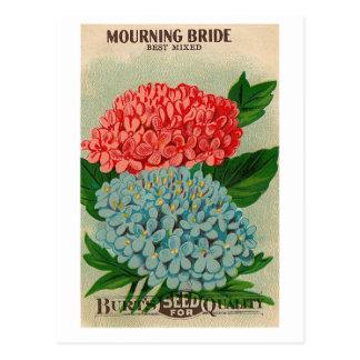 postal de luto del seedpacket de la flor del puent