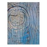 Postal de madera azul de la textura