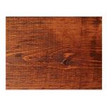 Postal de madera manchada de la mirada