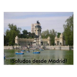 Postal de Madrid, España