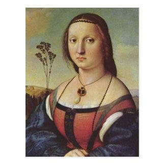 Postal de Magdalena Doni de Raffael