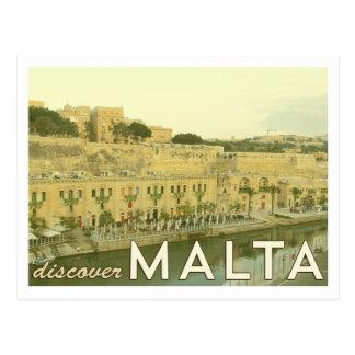 Postal de Malta del vintage