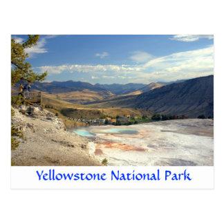 Postal de Mammoth Hot Springs del parque de Yellow