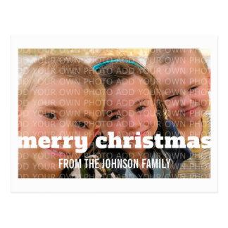 Postal de marfil de la foto de las Felices Navidad
