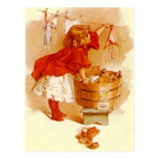 POSTAL de marfil de la publicidad del jabón del VI