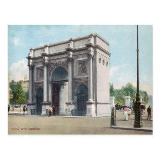 Postal de mármol del vintage de Londres del arco