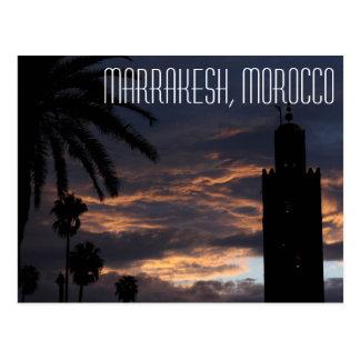 Postal de Marrakesh, Marruecos