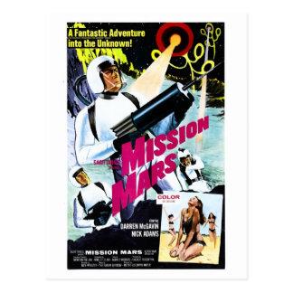 Postal de Marte de la misión