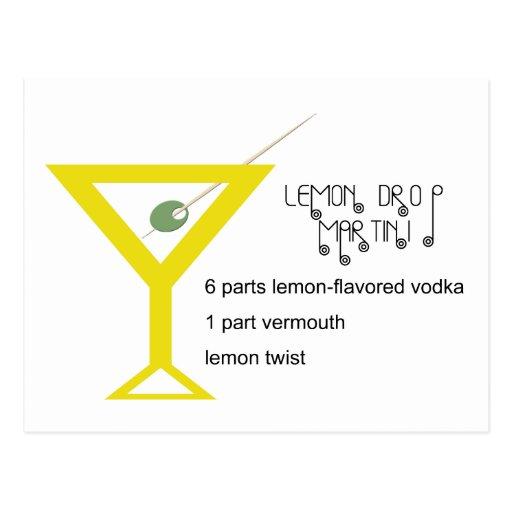 Postal de Martini de la gota de limón