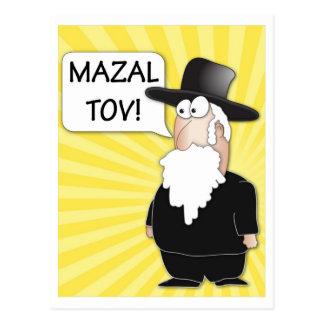 Postal de Mazal Tov - rabino judío