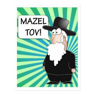 Postal de Mazel Tov - rabino judío