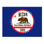 Postal de McCain CALIFORNIA