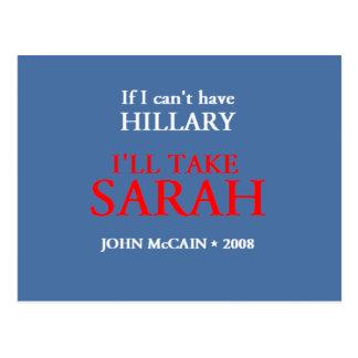 Postal de McCain Palin HILLARY