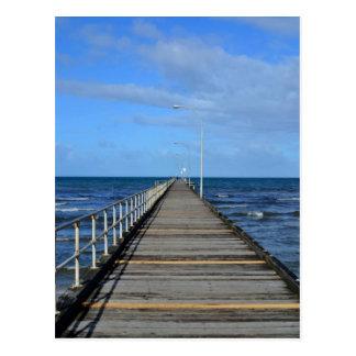 Postal de Melboune de la playa del embarcadero de